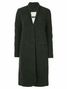 Uma Wang midi single breasted coat - Grey