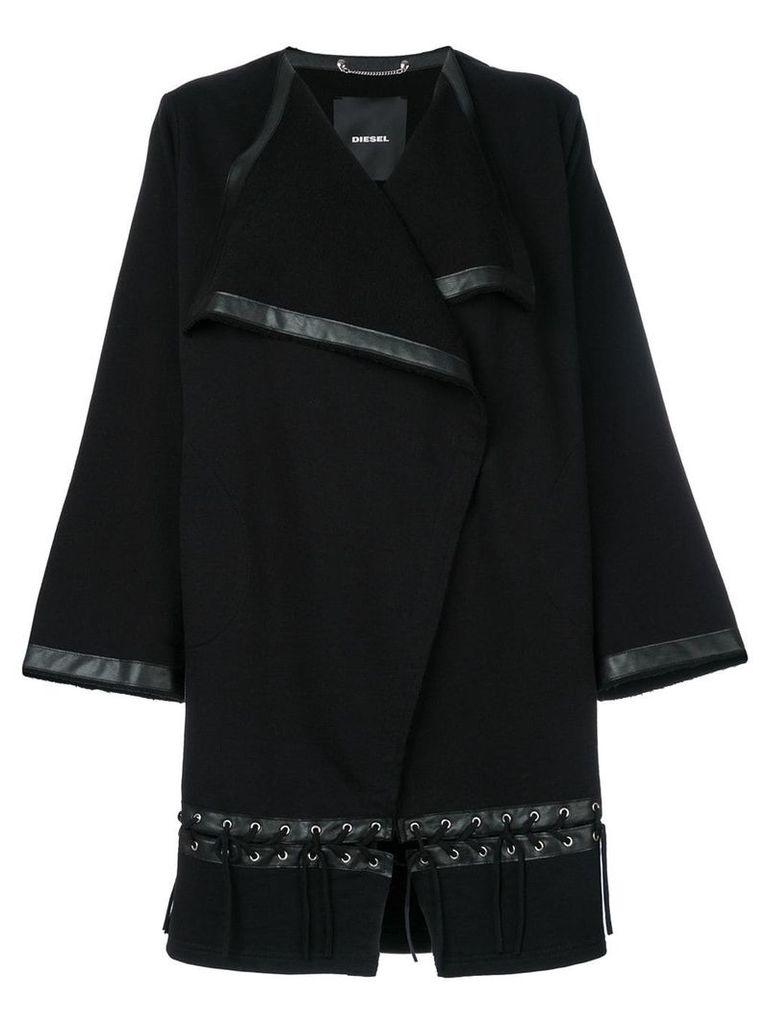 Diesel open waterfall jacket - Black