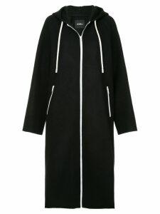 Goen.J hooded drawstring coat - Black