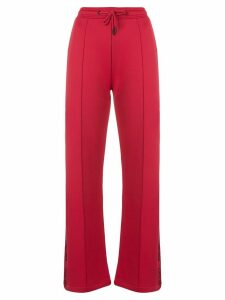 Kenzo logo tape track pants - Red