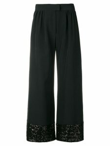 Gianluca Capannolo sequins embellished flared trousers - Black