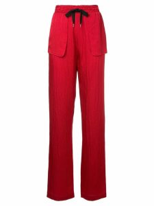 Roland Mouret patch pocket trousers - Red