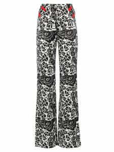 De La Vali Una Printed Wide Leg trousers - Black