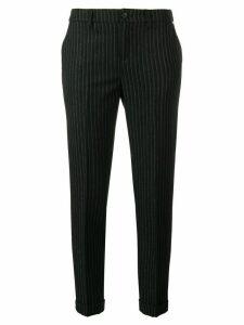 LIU JO glitter pinstriped trousers - Black