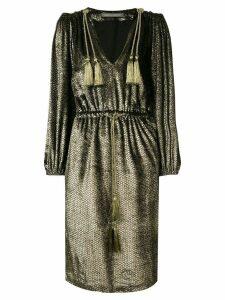 Alberta Ferretti metallic sheen dress - Black