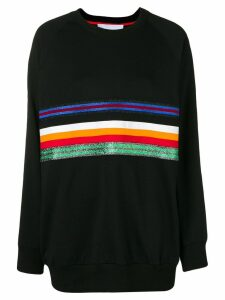 No Ka' Oi oversized stripe front sweatshirt - Black