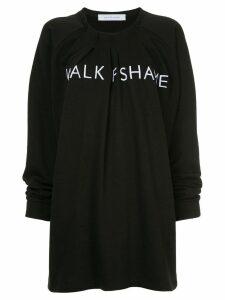 Walk Of Shame branded sweat dress - Black