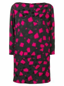 Marc Jacobs geometric print dress - Black