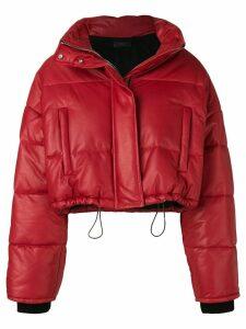 AMIRI cropped puffer jacket - Red