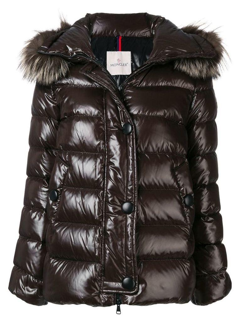Moncler padded loose bomber jacket - Brown