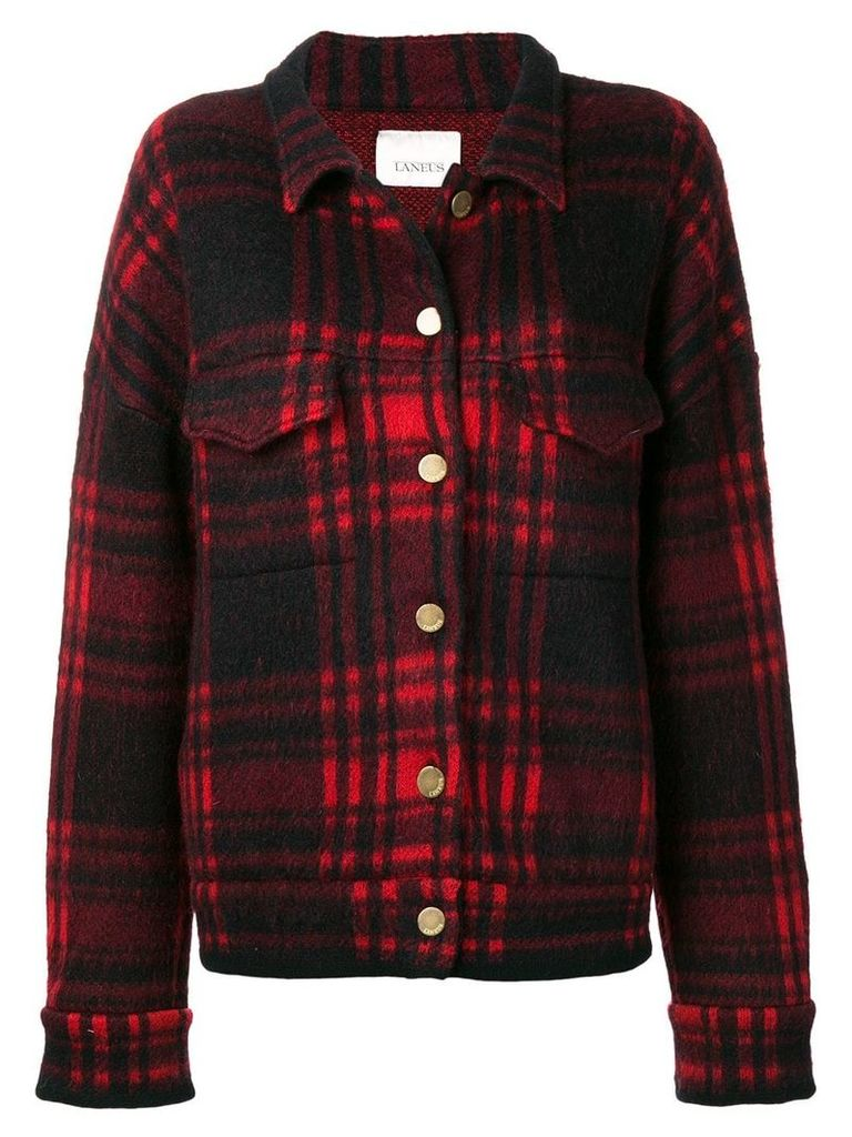 Laneus checked jacket - Red