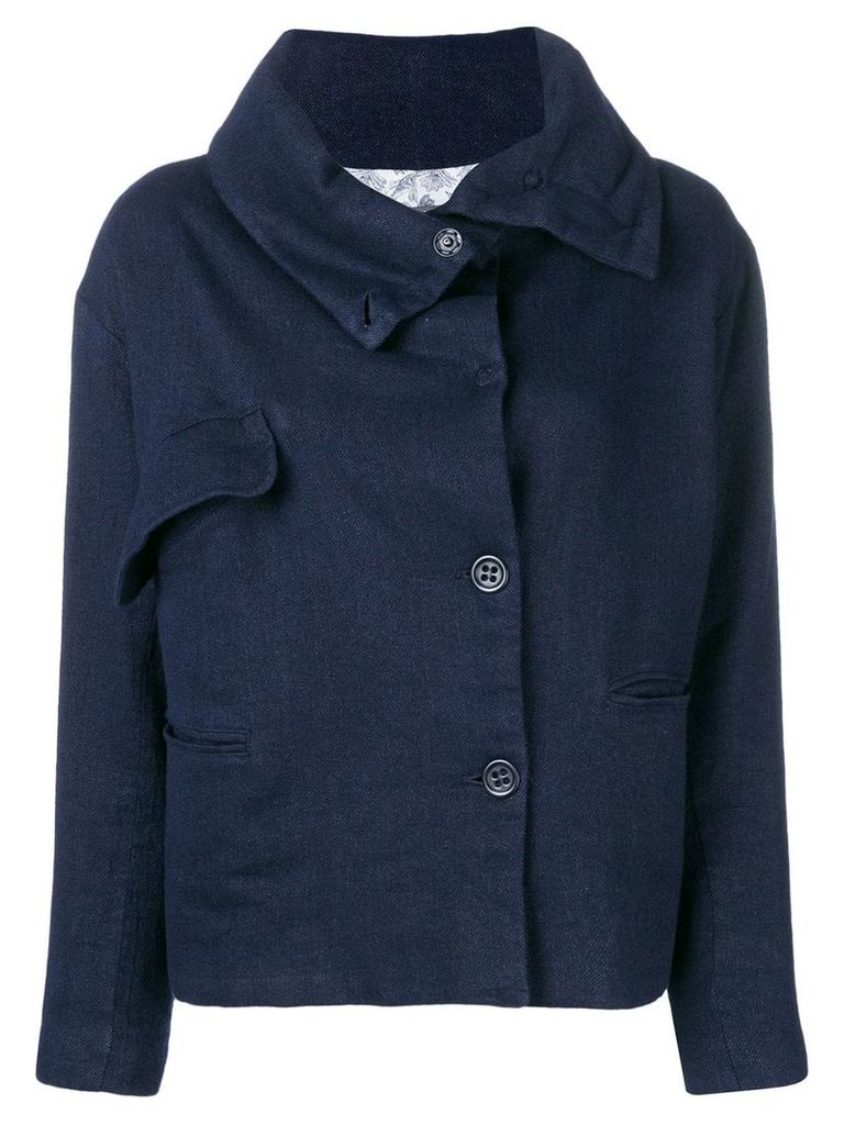 Cotélac short buttoned jacket - Blue
