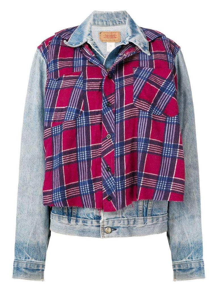 R13 layered denim jacket - Blue