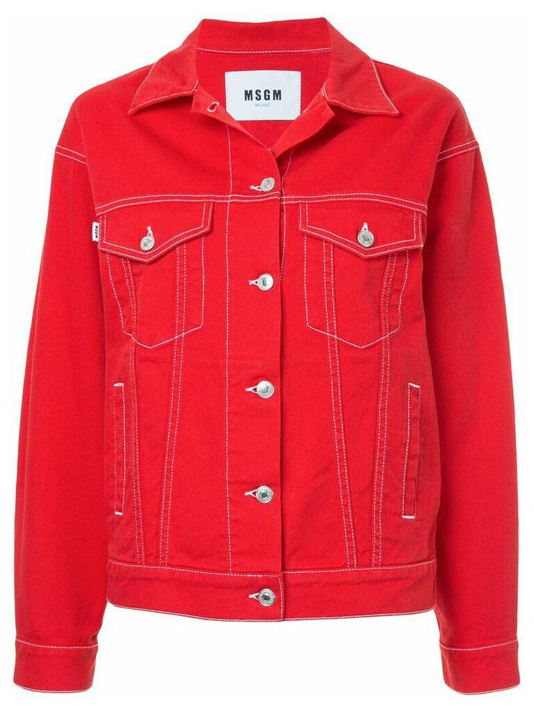 MSGM classic denim jacket - Red