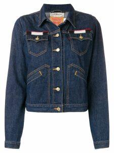 Jessie Western back patch denim jacket - Blue