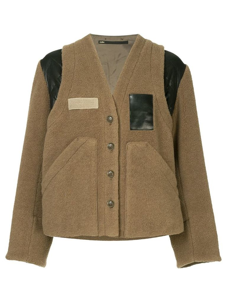 Muller Of Yoshiokubo contrast fitted jacket - Brown