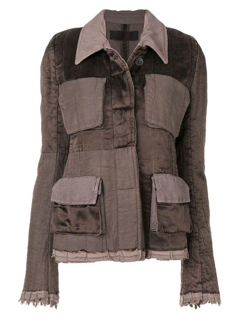 Haider Ackermann patch jacket - Brown