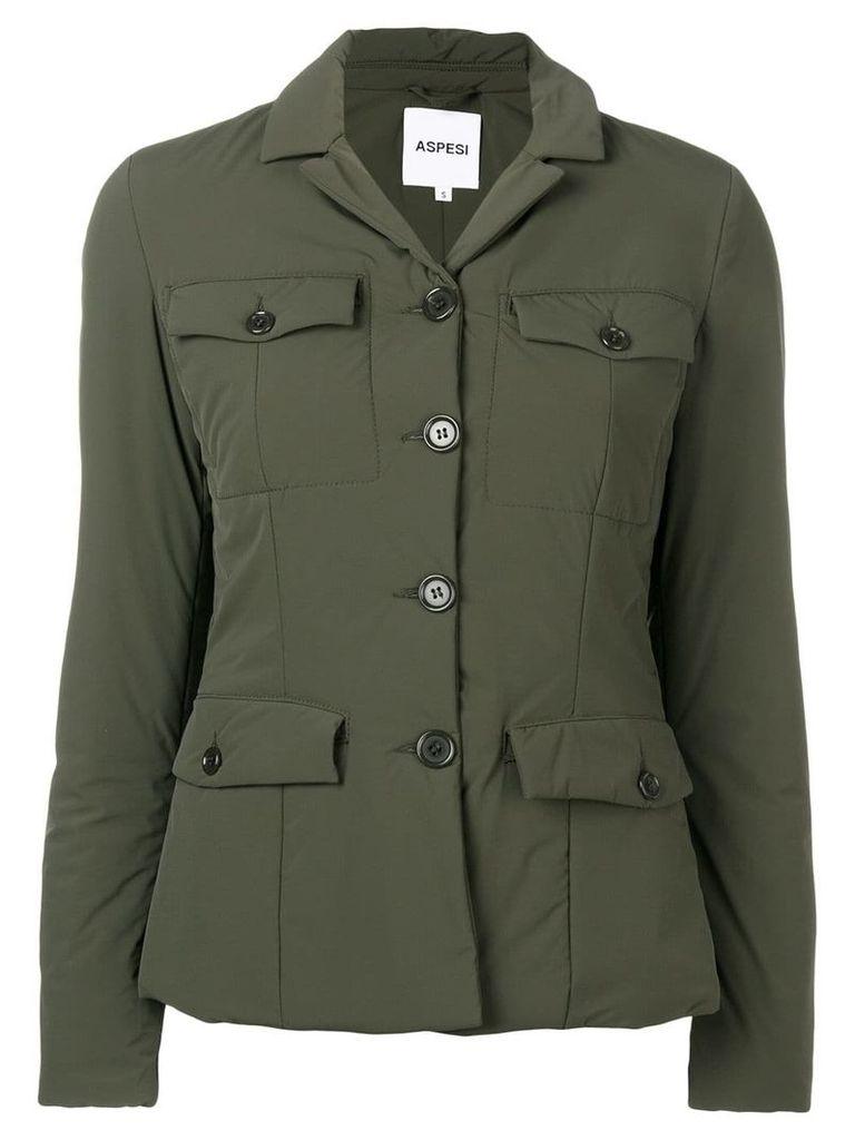Aspesi padded fitted jacket - Green