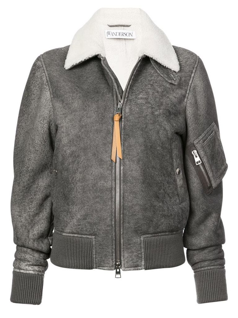 JW Anderson zipped fitted jacket - Grey