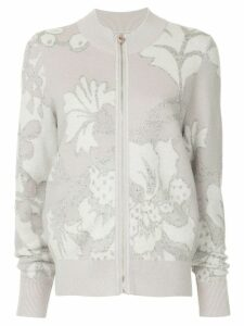 Onefifteen embroidered knit jacket - PINK