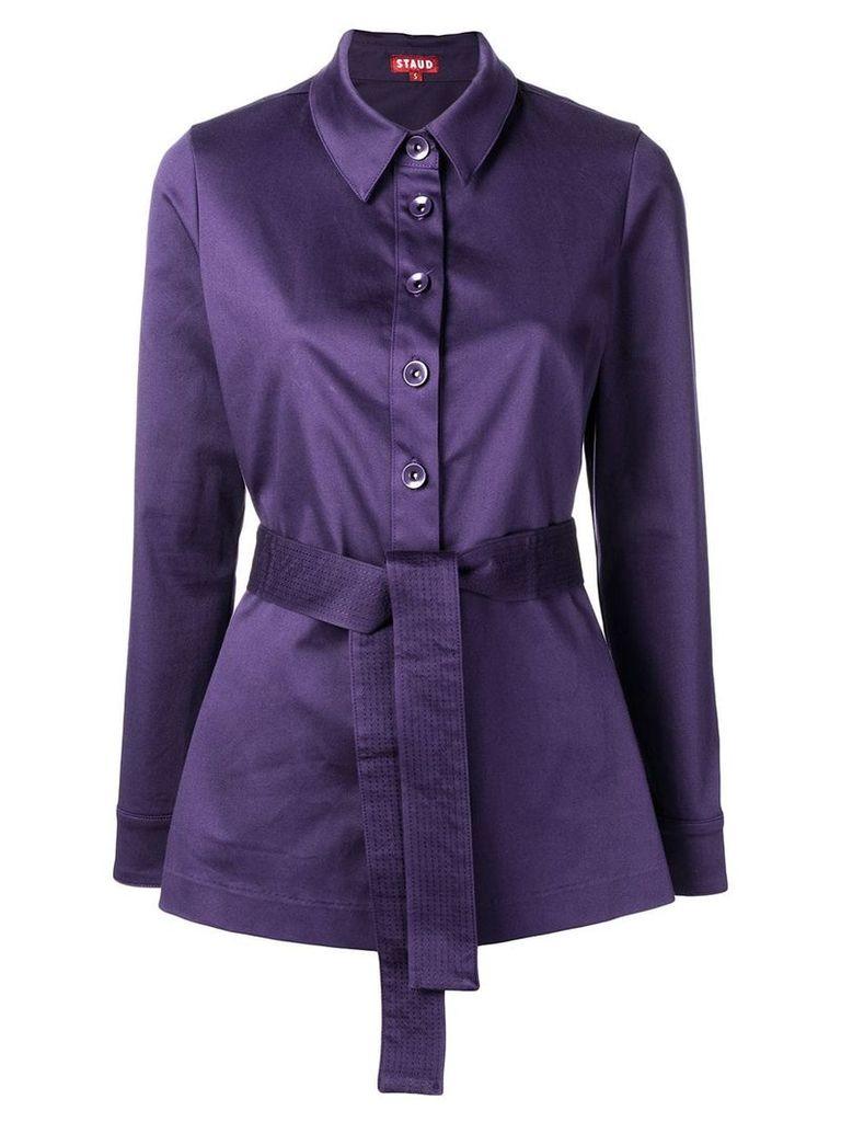 Staud fitted waist jacket - Purple