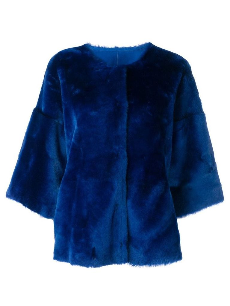 Desa 1972 draped fitted jacket - Blue
