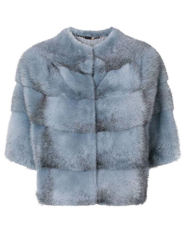 Manzoni 24 cropped jacket - Blue