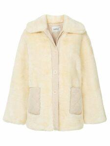 Goen.J oversized faux fur jacket - Brown