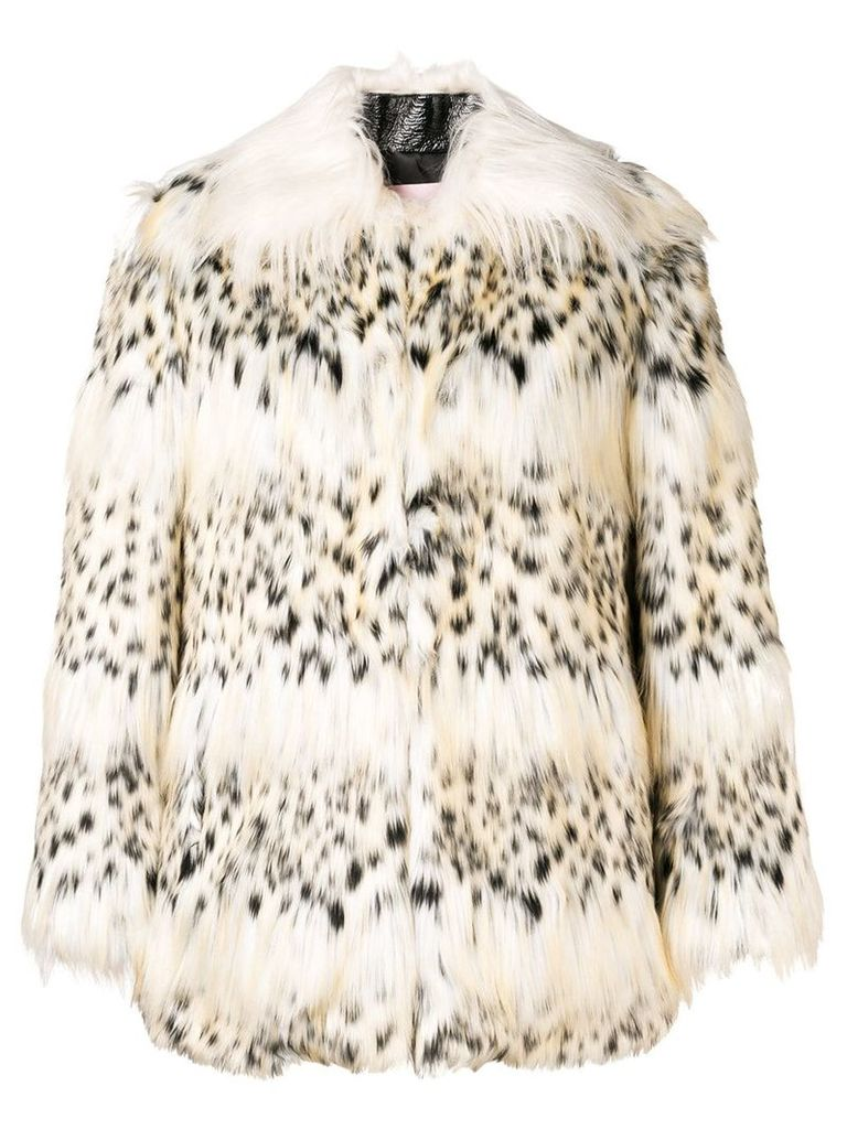 Giamba faux fur jacket - Nude & Neutrals