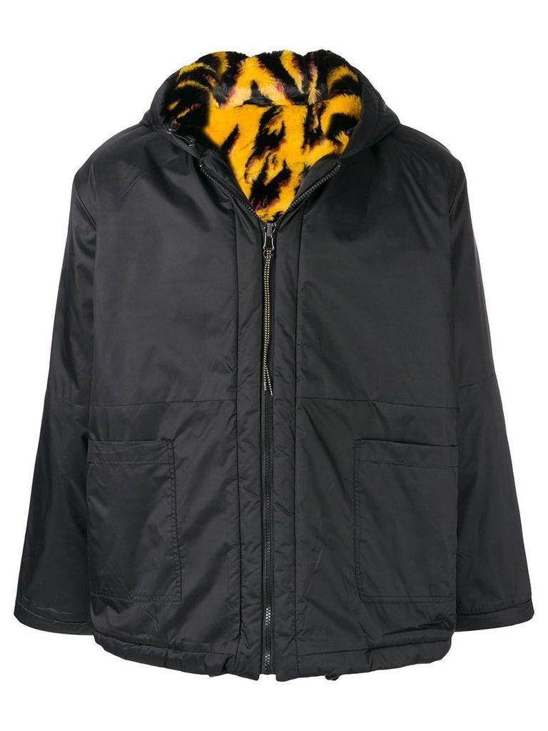 Aries reversible hooded jacket - Black