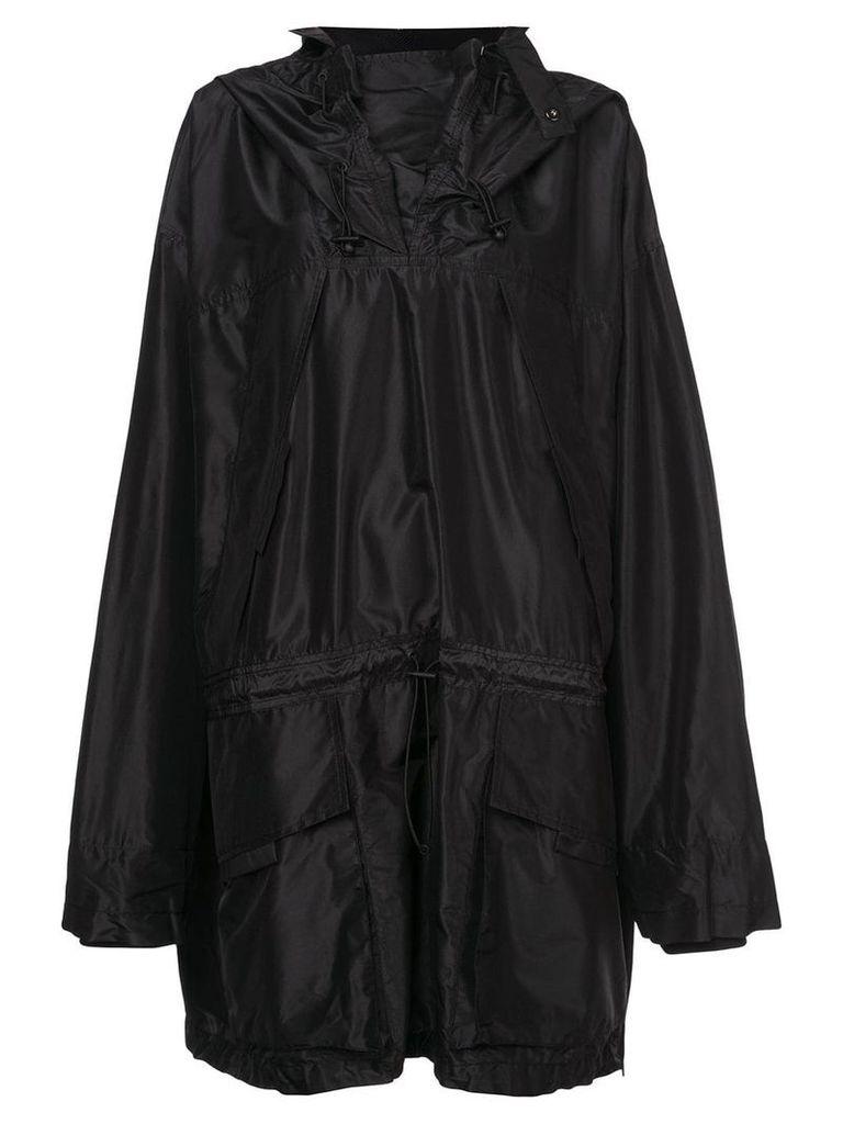 Maison Margiela oversized pullover rain jacket - Black