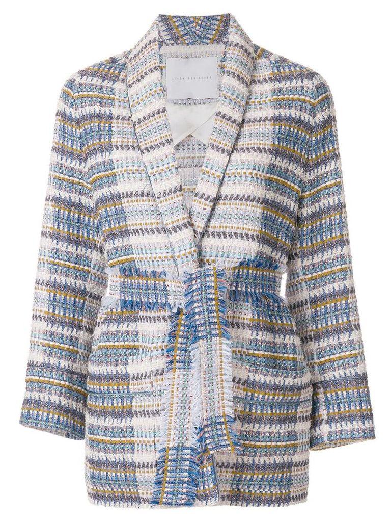 Giada Benincasa belted tweed jacket - Multicolour