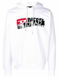 Diesel 'Is dead' print hoodie - White