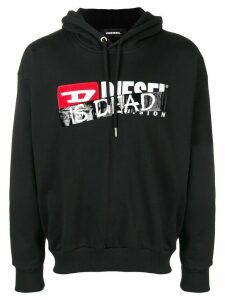 Diesel 'Is dead' printed hoodie - Black