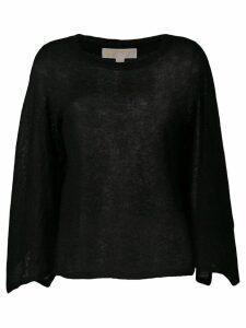 Michael Michael Kors asymmetric sleeves top - Black