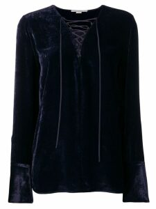 Stella McCartney lace-up blouse - Blue