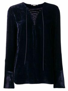 Stella McCartney lace-up blouse - Blue