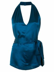Tufi Duek halter neck blouse - Blue