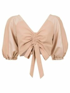 Olympiah Condotti cropped top - NEUTRALS