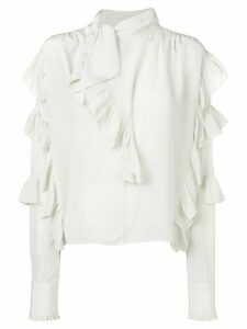 Isabel Marant frill-trim fitted blouse - White