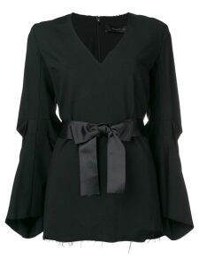 Federica Tosi ribbon belt blouse - Black