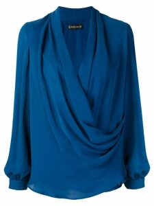 Plein Sud wrap blouse - Blue