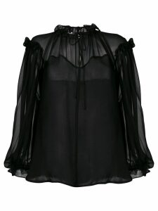 Plein Sud sheer blouse - Black