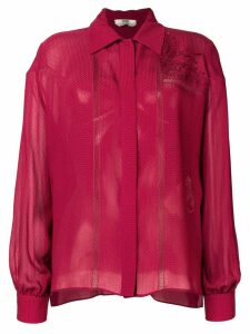 Fendi long-sleeve embroidered blouse
