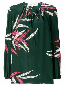 Diane von Furstenberg printed silk blouse - Green