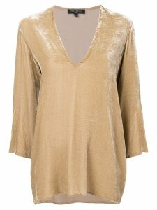 Antonelli V neck blouse - NEUTRALS