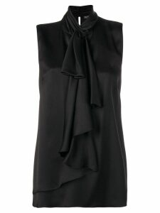 Alexander McQueen ruffled high-neck top - Black