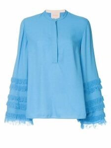 Roksanda Abeni wide sleeve top - Blue