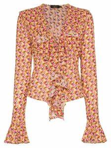 De La Vali Tangerine Blouse - 003 Circle Print