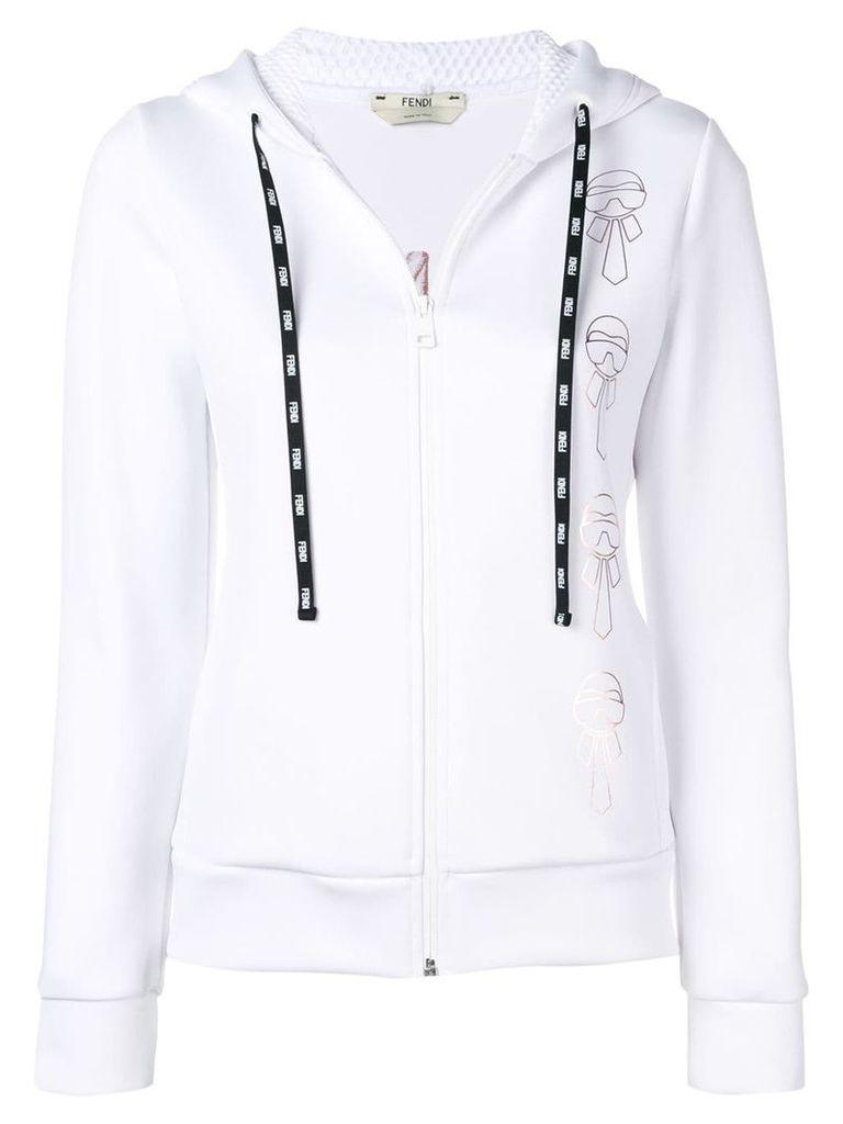 Fendi hooded zipped jacket - White
